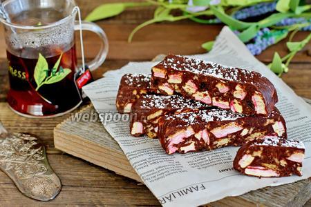 Фото рецепта Конфеты с маршмеллоу и изюмом