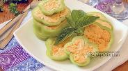 Фото рецепта Перец фаршированный сыром и чесноком