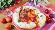 Фото рецепта Галета с алычой и абрикосами
