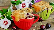 Фото рецепта Кексы с голубикой в чашках