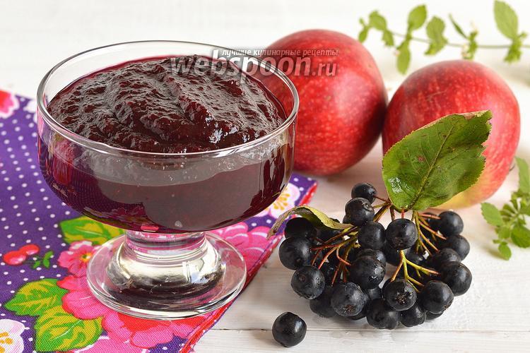 Фото Повидло из яблок и черноплодной рябины