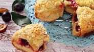 Фото рецепта Сливовый пирог с творожной начинкой и штрейзелем