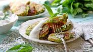 Фото рецепта Зелёные оладьи с рыбой