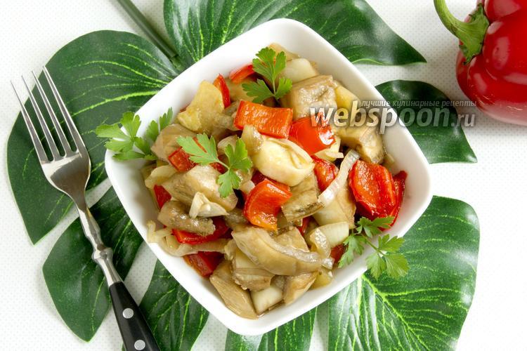 Фото Овощи в соевом соусе в духовке