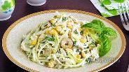 Фото рецепта Салат из капусты, адыгейского сыра и кукурузы