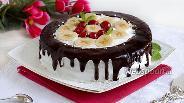 Фото рецепта Фруктовый торт из микроволновки
