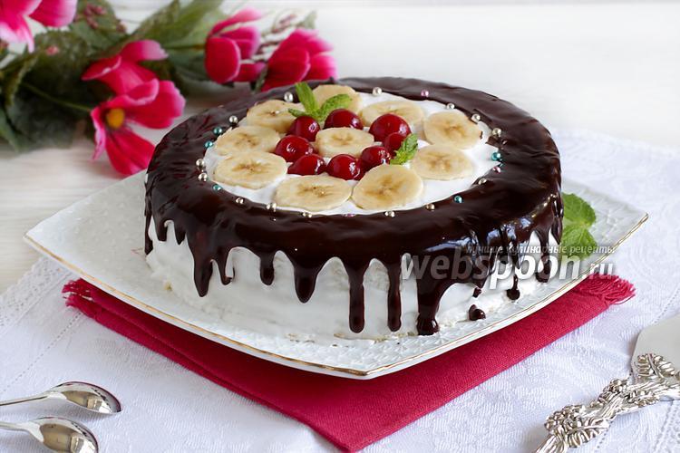 фруктовый торт из коржей рецепт
