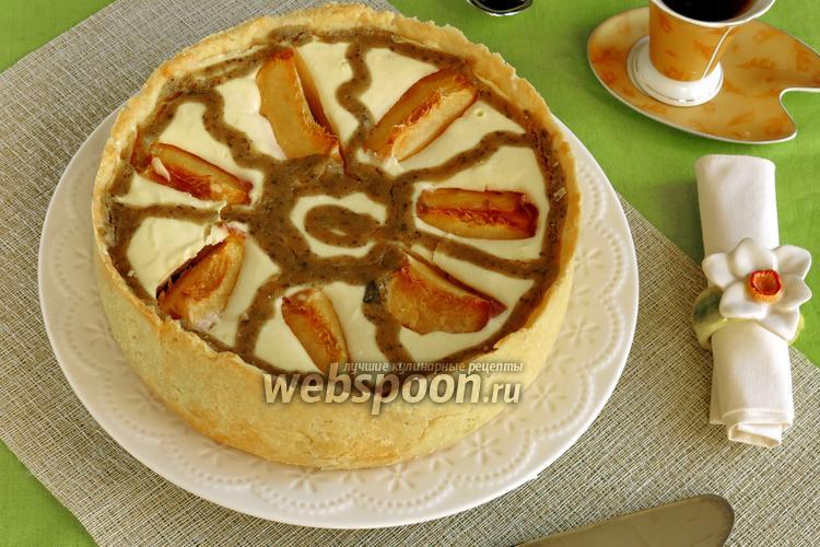 Фото Творожно-фруктовый торт с курдом из базилика «Карусель»