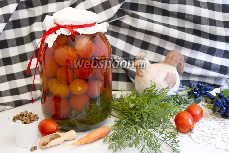 Фото Помидоры с морковной ботвой