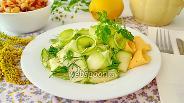 Фото рецепта Салат из свежего кабачка с кунжутом