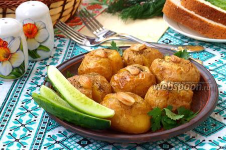 Давленый молодой картофель запечённый в духовке