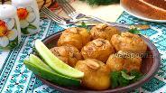 Фото рецепта Давленый молодой картофель запечённый в духовке