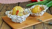 Фото рецепта Картофель запечённый в фольге с беконом