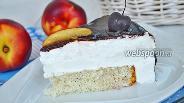 Фото рецепта Торт с суфле на растительных сливках