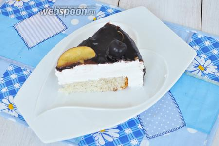 Вот такой разрез у торта.