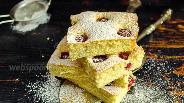 Фото рецепта Бисквитный пирог с малиной