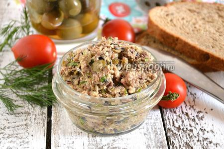Паштет из сардин с оливками
