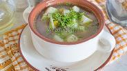 Фото рецепта Суп с сушёными лисичками в мультиварке