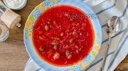 Фото рецепта Постный борщ с красной фасолью