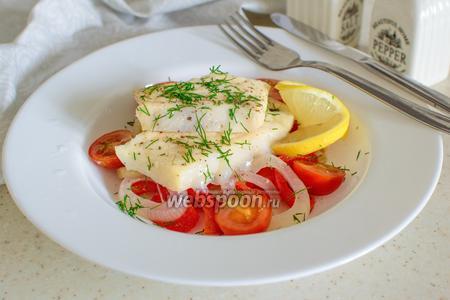 Фото рецепта Зубатка с овощами в пергаменте