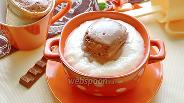 Фото рецепта Манная каша с шоколадным мороженым