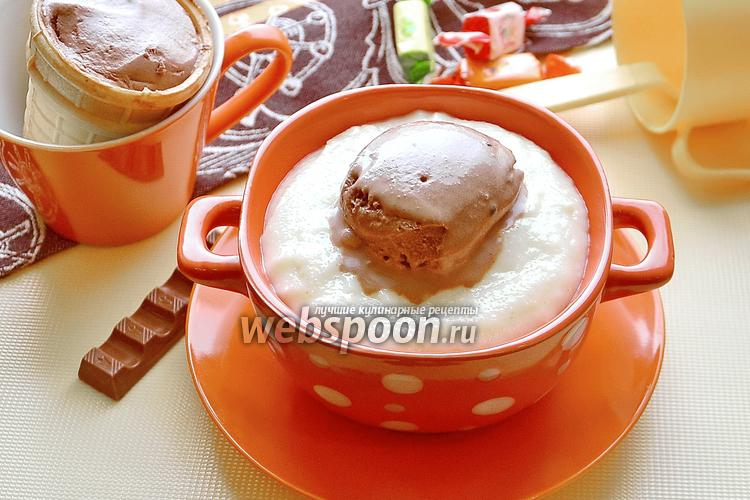 Фото Манная каша с шоколадным мороженым