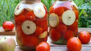 Фото рецепта Помидоры консервированные с яблоками