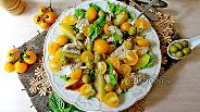 Фото рецепта Салат с запечённым картофелем и рыбой