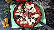 Фото рецепта Фасоль запечённая в томатном соусе с фетой