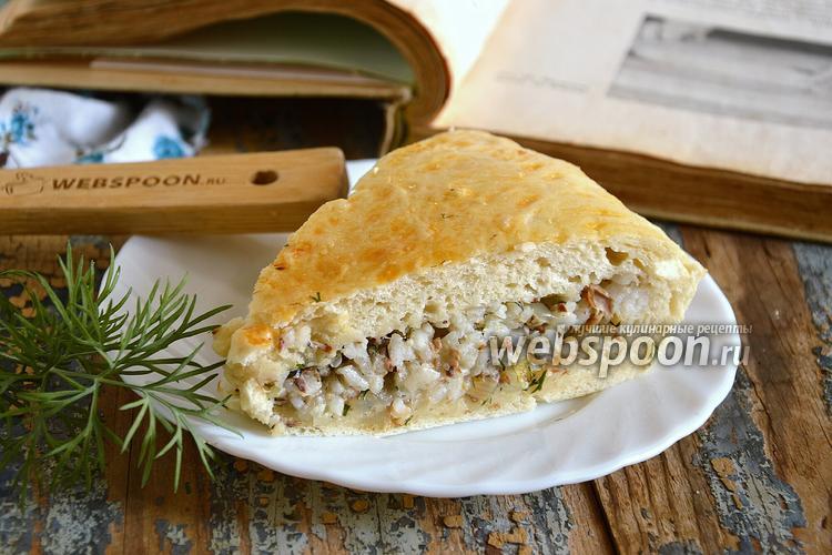 Фото Пирог с сардинами и рисом