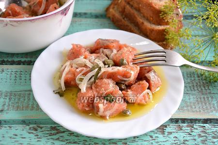 Солёный кижуч в оливковом масле