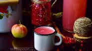 Фото рецепта Кисель бруснично-яблочный