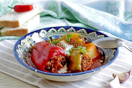 Фаршированный перец с мясом и капустой