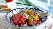 Фото рецепта Фаршированный перец с мясом и капустой