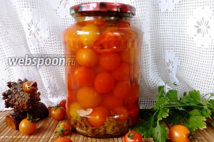Фото Маринованные помидоры черри с корицей