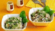Фото рецепта Салат из кальмаров с грибами и сыром