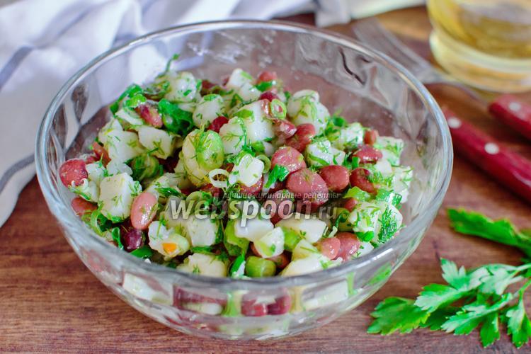 Фото Салат из фасоли и картофеля