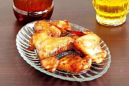 Крылышки к пиву в остром соусе, запечённые в аэрогриле