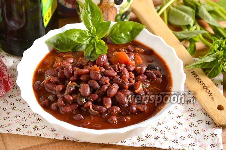 Фото Красная фасоль в томатном соусе