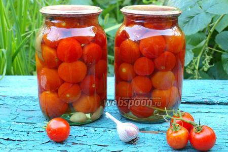 Консервированные помидоры черри с петрушкой