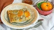 Фото рецепта Пицца с белым баклажаном и соусом Альфредо