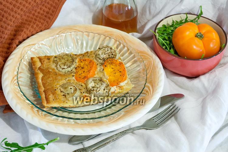 Фото Пицца с белым баклажаном и соусом Альфредо