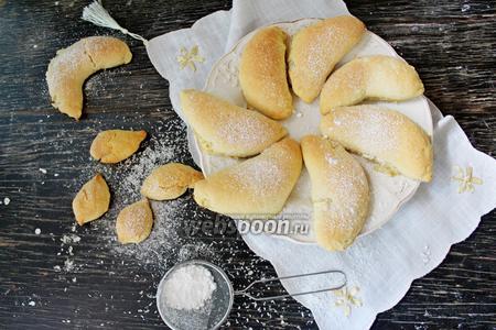 Печенье с бананом,творогом и кокосовой стружкой