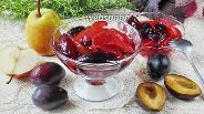 Фото рецепта Варенье из слив и груш