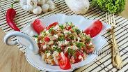 Фото рецепта Салат из белых баклажанов с луком и яйцами