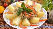 Фото рецепта Картофель с соусом из сайры