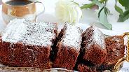 Фото рецепта Брауни с грецкими орехами и шоколадными каплями