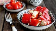 Фото рецепта Перец фаршированный творожным сыром