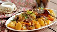 Фото рецепта Картофель с мясом в рукаве