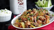 Фото рецепта Куриное филе с грибами шиитаке и пастой мисо